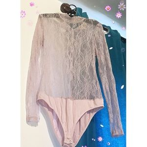 Lacey, sheer over-top. Pastel/dusty pink color.🌷✨